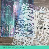SOULFUL scribbles stencils kit no. 2 by traci bautista