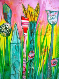 graffiti BOUQUET~colorful.monoprints.layers
